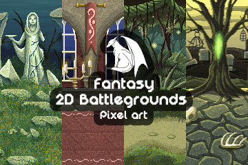 Free Pixel Art Fantasy 2D Battlegrounds