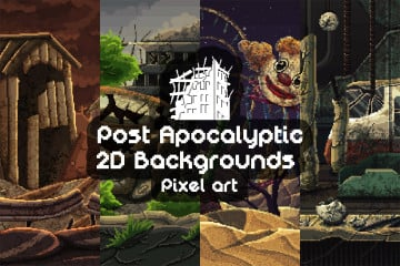 Free Post Apocalyptic Pixel Art Game Backgrounds
