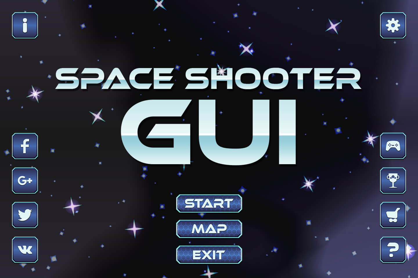Free Space Shooter Game GUI
