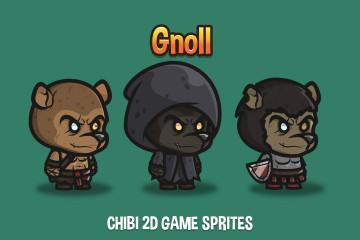 Gnoll Chibi 2D Game Sprites
