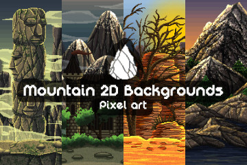Mountain Pixel Art 2D Game Backgrounds