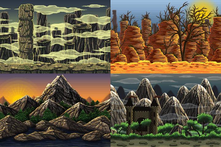 Mountain-Pixel-Art-2D-Game-Backgrounds
