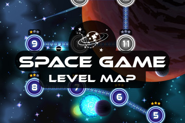 Space Shooter Game Level Map Pack