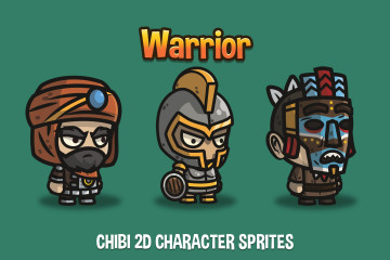 Warrior Chibi 2D Character Sprites