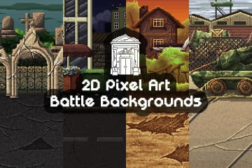 2D Pixel Art Battle Backgrounds