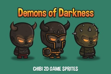 Demon of Darkness Chibi 2D Game Sprites