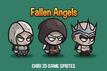 Free Fallen Angel Chibi 2D Game Sprites
