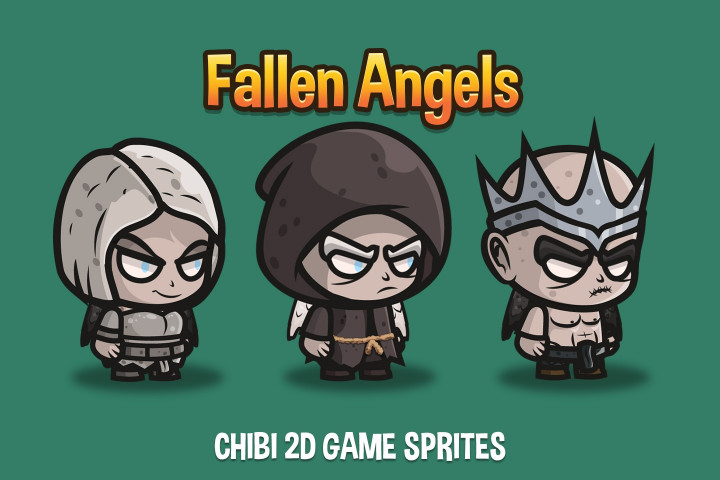 Free-Fallen-Angel-Chibi-2D-Game-Sprites