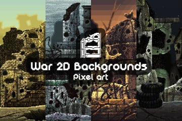 Free War Pixel Art 2D Backgrounds