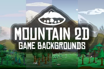 Mountain 2D Game Backgrounds