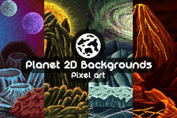 Planet Pixel Art 2D Game Backgrounds