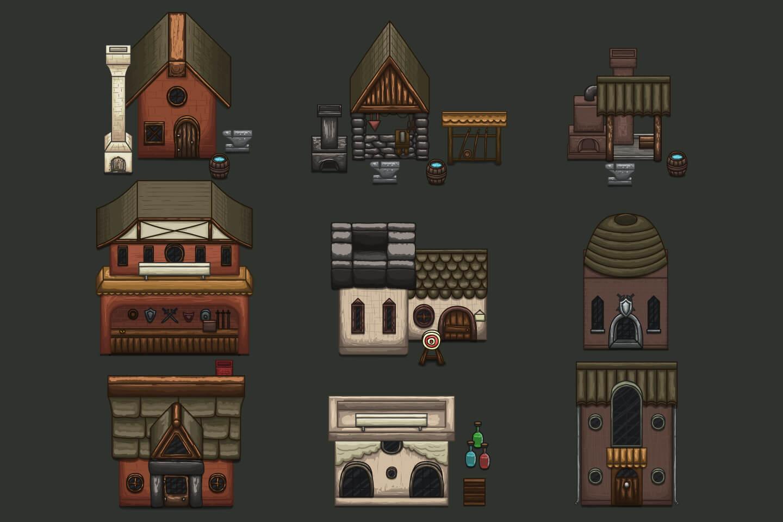 Summer Medieval City 2d Tileset Craftpix Net