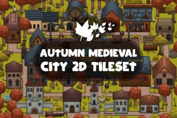 Autumn Medieval City 2D Tileset