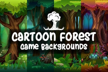 Free Cartoon Forest Game Backgrounds