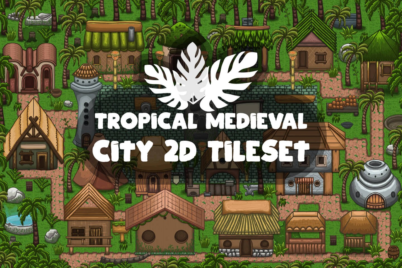 Free Tropical Medieval City 2D Tileset