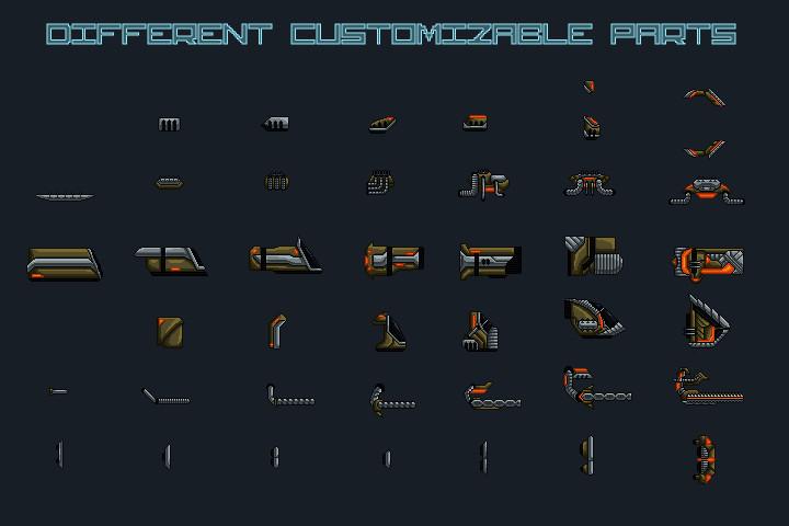 Pixel-Art-Spaceship-2D-Game-Sprites