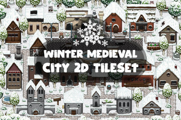 Winter Medieval City 2D Tileset