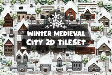 Winter Medieval City 2D Tileset