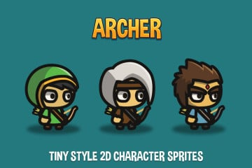 Archer Tiny Style 2D Character Sprites