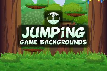 Backgrounds for Vertical Jump 2D Game