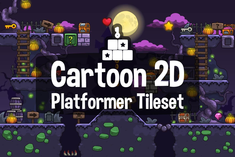 Cartoon 2D Platformer Tileset - CraftPix net