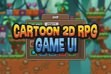 Cartoon 2D RPG Game UI