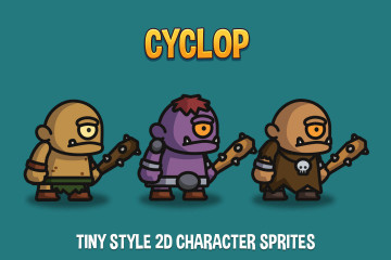 Cyclop Tiny Style 2D Character Sprites