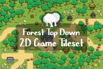 Forest Top Down 2D Game Tileset