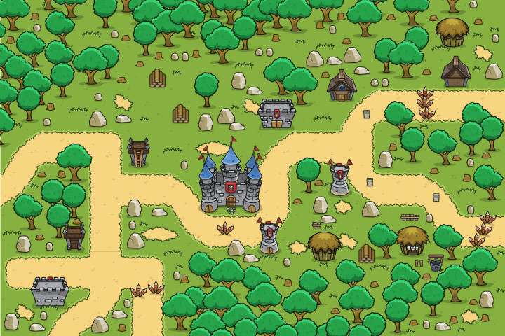 Forest-Top-Down-2D-Game-Tileset