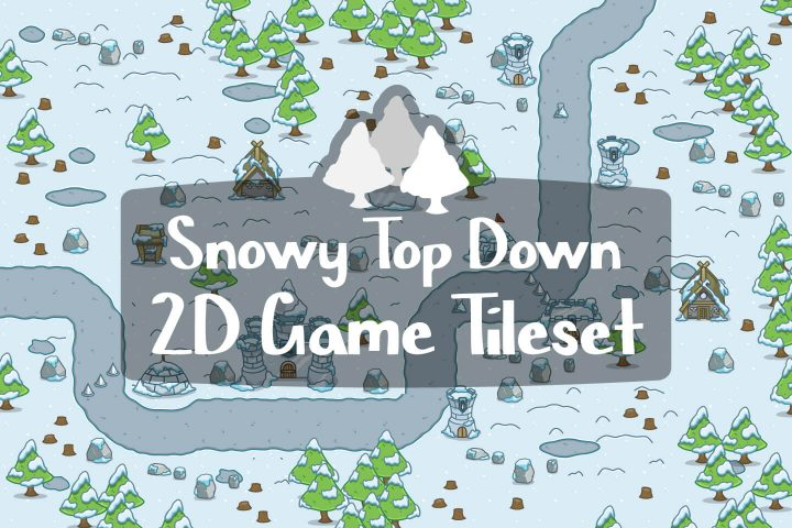 Snowy-Top-Down-2D-Game-Tileset