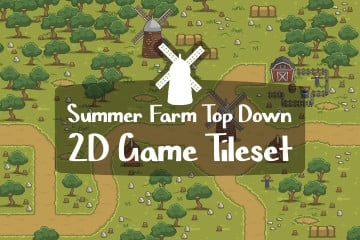 Summer Farm Top Down 2D Game Tileset