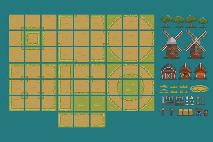 Summer-Farm-Top-Down-2D-Game-Tileset