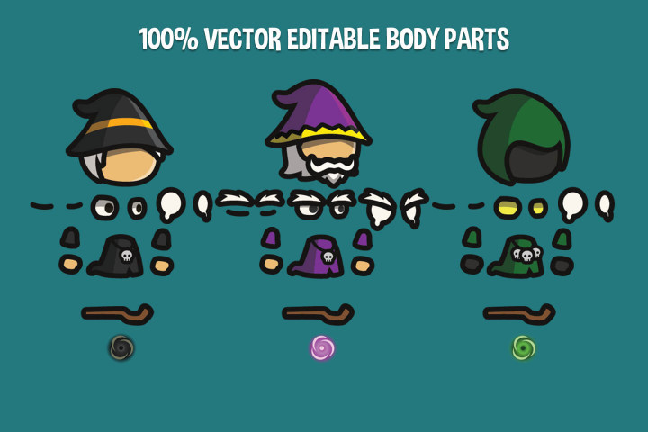 Wizard-Tiny-Style-2D-Character-Sprites