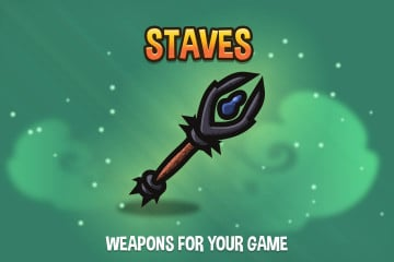 Free Staves 2D Weapon Pack