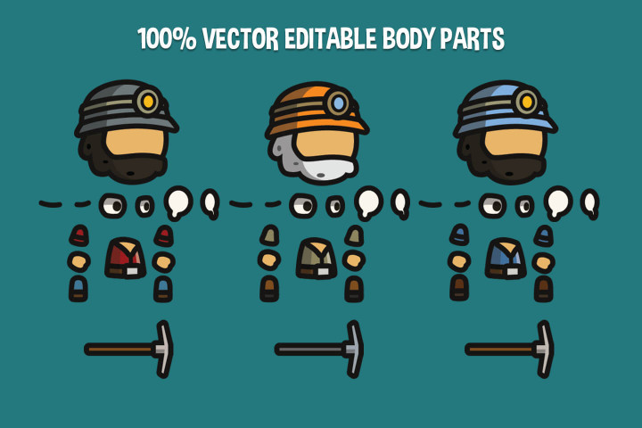 Gold-Miner-Tiny-Style-2D-Character-Sprites