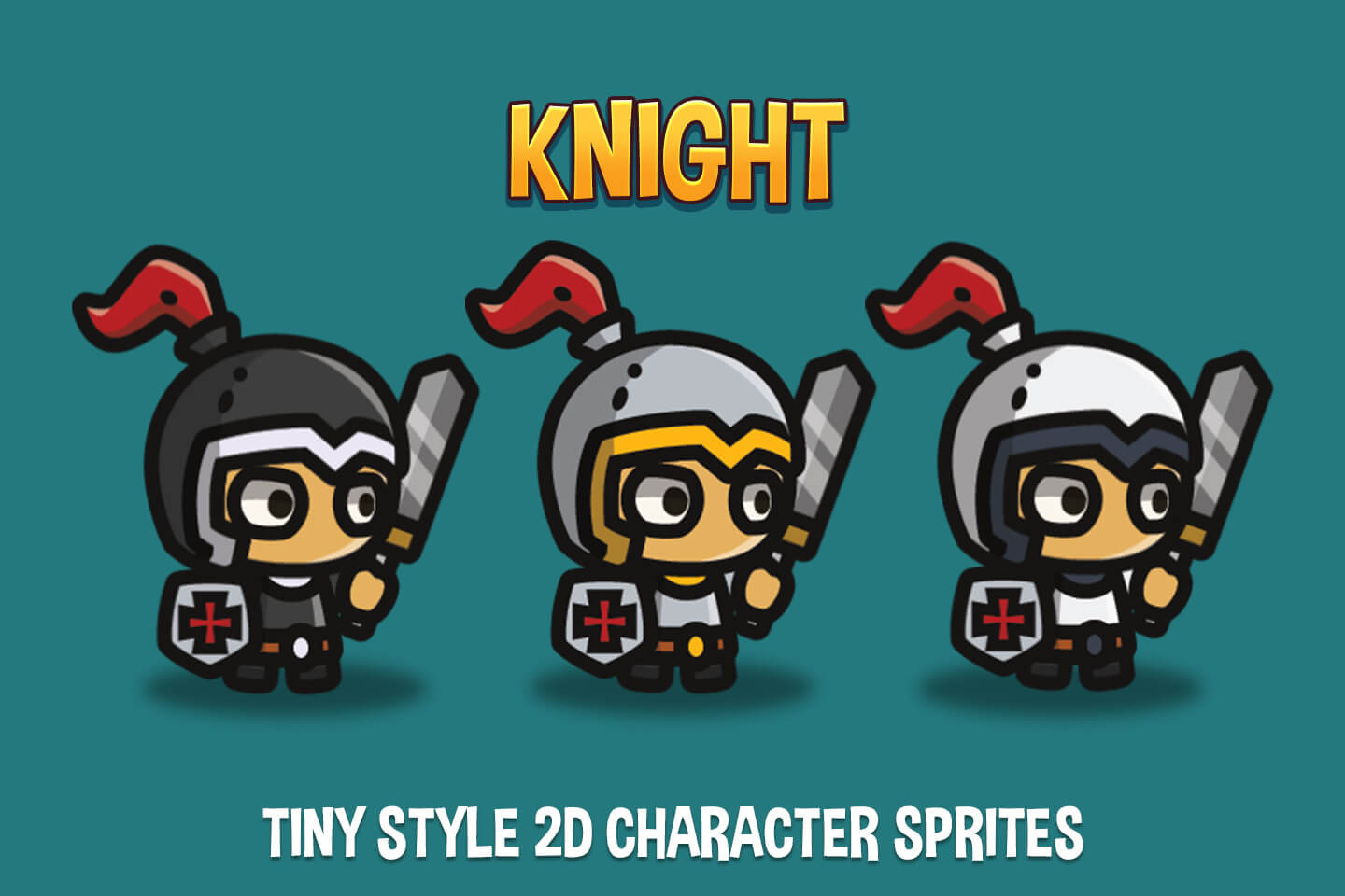 Knight Tiny Style 2D Character Sprites - CraftPix net