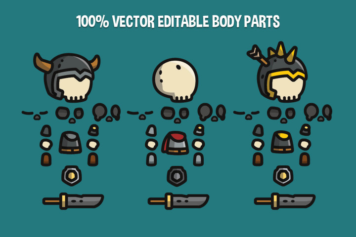 Skull-Tiny-Style-2D-Character-Sprites