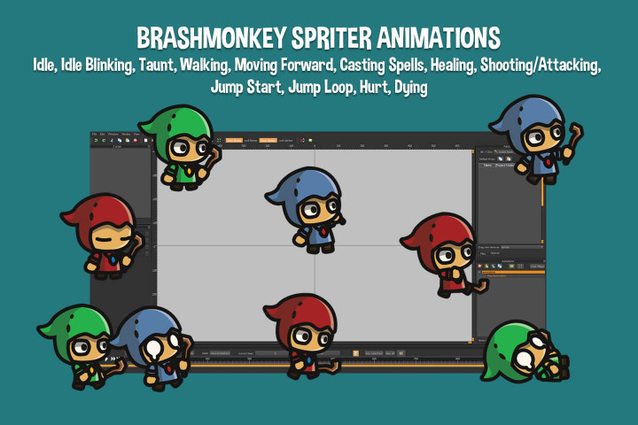 Witcher-Tiny-Style-2D-Character-Sprites