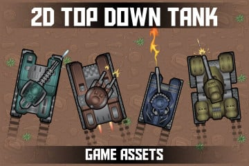 2D Top Down Tank Game Assets