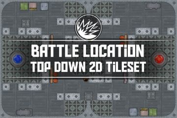 Battle Location Top Down 2D Tileset Pack 2