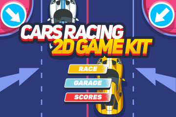 Cars Racing 2D Game Kit