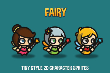 Fairy Tiny Style 2D Character Sprites