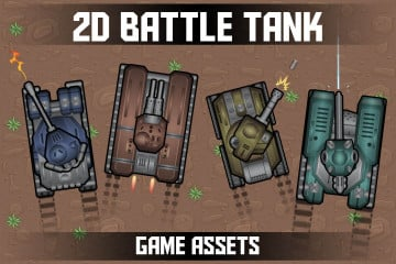 Free 2D Battle Tank Game Assets
