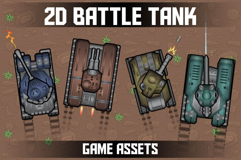 Free 2D Battle Tank Game Assets