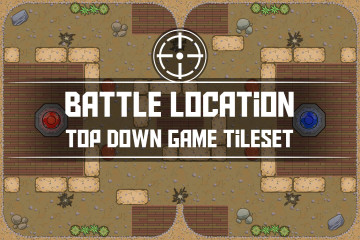 Free Battle Location Top Down Game Tileset Pack 1