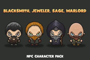 Free NPC Character Pack: Blacksmith, Jeweler, Sage, Warlord