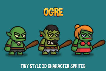 Ogre Tiny Style 2D Character Sprites