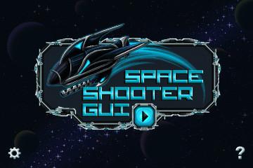Pixel Art Space Shooter GUI