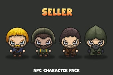 Seller NPC Character Pack 2