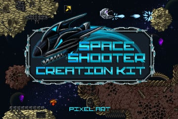 Space Shooter Creation Kit Pixel Art